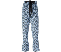 Tracery print trousers