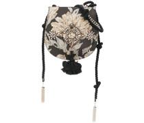 floral embellished shoulder bag