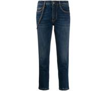 Skinny-Jeans mit Kettendetail
