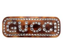 Haarspange mit Kristall-Logo