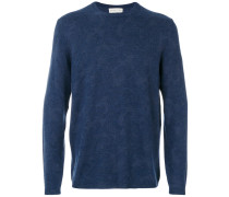 Wollpullover mit floralem Muster