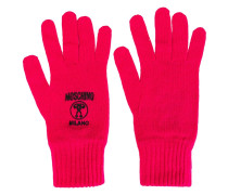 logo embroidered gloves