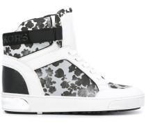 High-Top-Sneakers mit Blumen-Print - women