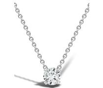 18kt Weißgoldhalskette mit Diamanten