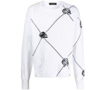 Pullover mit Totenkopf-Intarsie