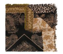 'Aloeuw' Seidenschal mit Blumen-Print