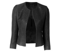 single buttoned jacket with sequin details