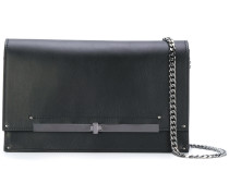 metallic band shoulder bag