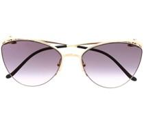 Panthère Cat-Eye-Sonnenbrille