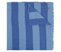Gestreifter Schal mit Logo-Stickerei