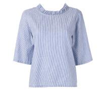 Bluse mit V-Ausschnitt mit Nadelstreifen
