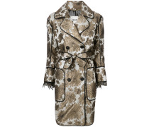 floral belted coat