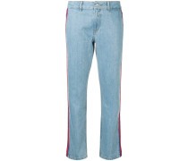 rib low rise slouch jeans