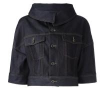 Cropped-Jeansjacke mit Dreiviertelärmeln