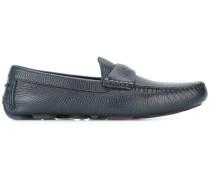 Loafer mit kariertem Detail - men - Leder/Bos