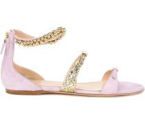 - Sandalen mit verzierten Riemen - women - Leder