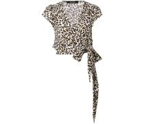 Wickeloberteil mit Leoparden-Print