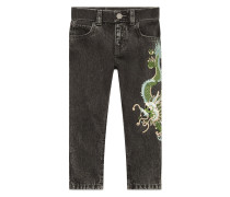 Children's denim pant with dragon