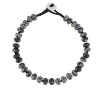 Snowflake Obsidian Armband