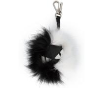 Black and White Monster Keyring