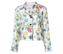 Pyjama-Oberteil mit floralem Print