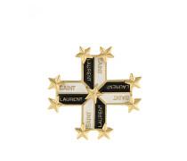 Brosche mit Logo-Prägung