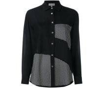 Seidenhemd im Patchwork-Stil