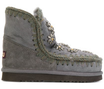 boots with crystal flower embellishment