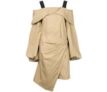 off-the-shoulder wrap dress