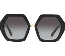 Oversized-Sonnenbrille mit V-Logo