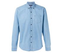 Chambray-Hemd mit Button-Down-Kragen - men