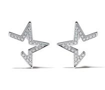 18kt 'Abstract Star' Weißgoldohrringe