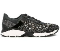 Sneakers mit Swarovski-Kristallen