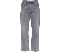 Gerade Jeans mit lockerem Schnitt