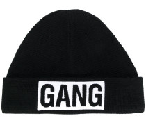 Gang patch beanie hat
