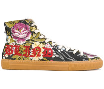 Florale Jacquard-High-Top-Sneakers