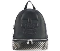 studded skull backpack - women