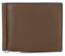 metallic clip bifold wallet - men - Leder