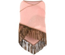 fringed trim cape