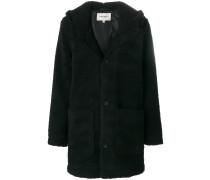 Texturierter Mantel mit Kapuze