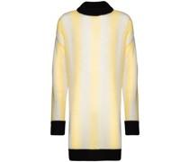 Langer Pullover mit Streifen