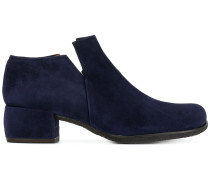 square ankle length boots
