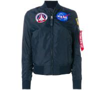 NASA patches bomber jacket