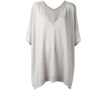 - Drapierter Pullover im Poncho-Stil - women