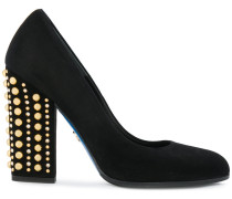 studded heel pumps