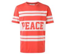 """T-Shirt mit """"Peace""""-Print - men - Baumwolle - L"""