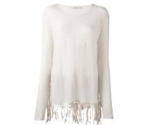 Pullover mit Fransensaum