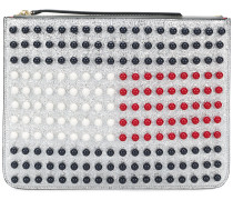 'Tommy Icon Pearl Flag' Clutch