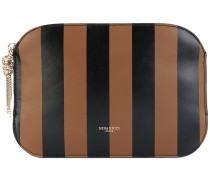 striped clutch - women - Ziegenleder