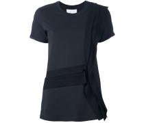 T-Shirt mit gerüschtem Saum